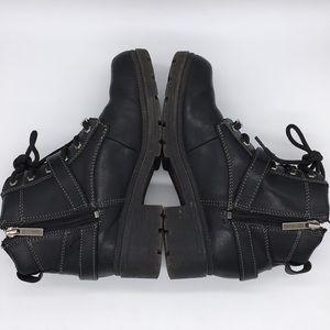 Harley-Davidson Shoes - Harley Davidson Black Leather Motorcycle Boots 7